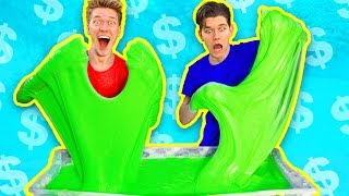 $1000 Slime Challenge! MOST EXPENSIVE DIY Giant Fluffy Slime!!