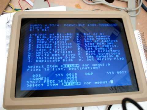 Testing the Atari 800 laptop revision 3