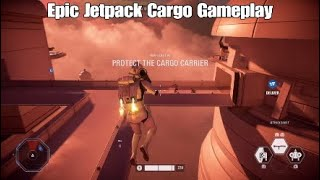 Epic/Funny Fails Jetpack Cargo Gameplay - Star Wars Battlefront ll