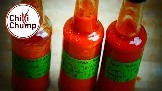 Crazy hot fermented sauce...7Pot Hab, Nagabrain Choc and Trinidad Douglah. 6 Month Fermentation