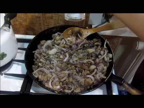 Шампиньоны жареные - видео рецепт
