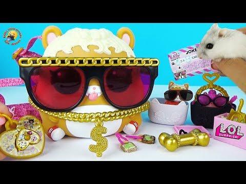 ЛОЛ Декодер ОГРОМНЫЙ ПИТОМЕЦ с сюрпризами Обзор игрушки с хомячком Видео для детей LOL BIGGIE PETS