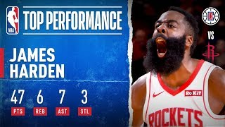 James Harden Drops 47 PTS With 7 3PM