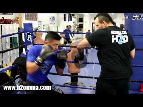 Boxing Pad Work - Mitt Training at H2O MMA Montreal Image 1