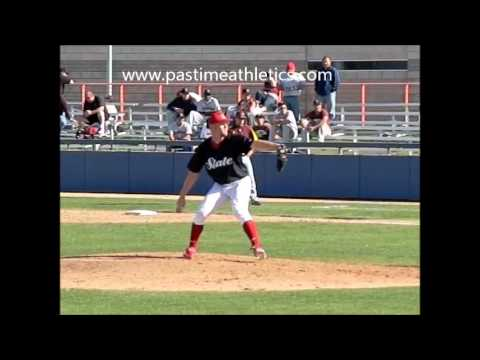 Stephen Strasburg College Slow Motion Pitching Mechanics - Baseball Video Analysis Nationals