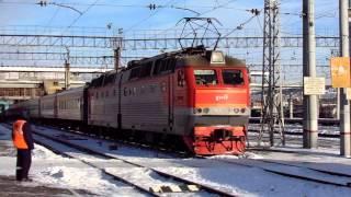Отправление ЧС7-191 с поездом №129Ы Красноярск — Анапа