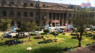 هدوء بجامعة القاهره ولا صحة لوجود معركة بين الطلبة والامن