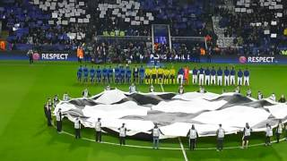 Leicester City vs Club Brugge - Champions league - Theme, Forever fearless flag and fans