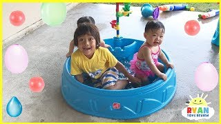 Step2 Play & Shade Kiddie Swimming Pool water balloons and Mr. Bubble Foam Soap
