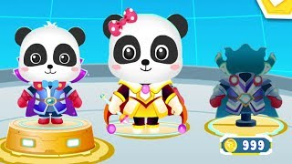 Baby Panda's Hero Battle - Play With Superhero Panda To Rescue The World - Gameplay Android Video