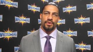 Roman Reigns at WWE WrestleMania 33 Press Conference in Orlando March 2016