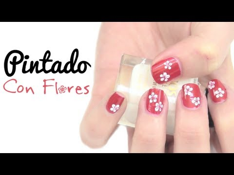 Dise o de u as con flores youtube - Pintados de unas faciles ...