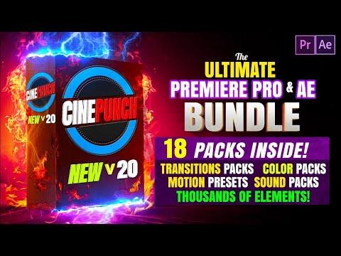 CINEPUNCH | Le PLUS GROS PACK de TRANSITIONS, EFFETS et LUTS (Premiere Pro & After Effects)