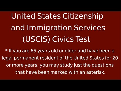 United States Citizenship and Immigration Services (USCIS) Civics Test 2013 Complete