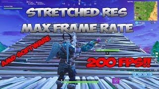 *NEW*How to play Stretched Resolution in FORTNITE W/ AMD SOFTWARE* MAX FRAMES!