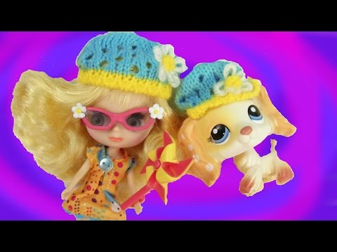 LPS Cocker Spaniel Pinwheels & Daisies Blythe Doll Littlest Pet Shop Playset Review