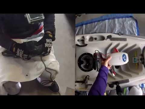 Hobie Kayak - trolling motor install - Part 1