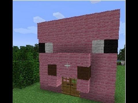 Minecraft como hacer una casa cerdo youtube for Como crear una casa