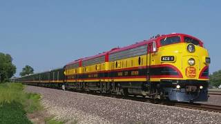 Kansas City Southern (KCS) Southern Belle Passenger Train in Mitchell, IL