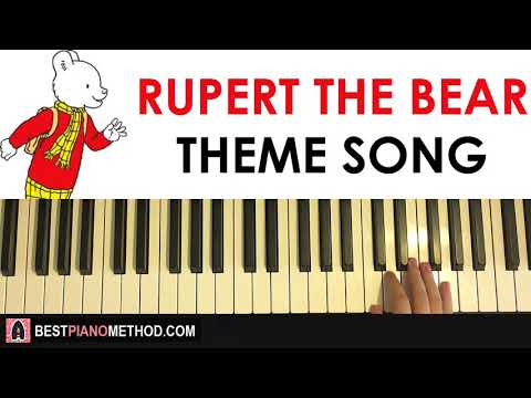 HOW TO PLAY - Rupert The Bear Theme Song (Piano Tutorial Lesson)