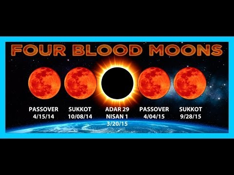 October 2014 Breaking News OCTOBER 8 2014 NEXT BLOOD MOON 2014 & 2015 Four 4 BLOOD MOONS