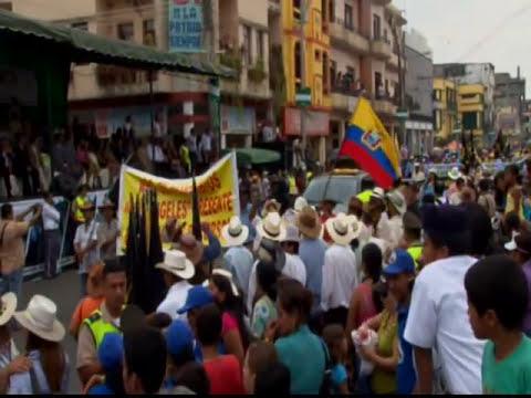 Montubios marcharon en Babahoyo