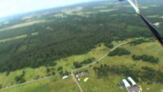 First jump with parachute. Tandem jumps in Estonia.