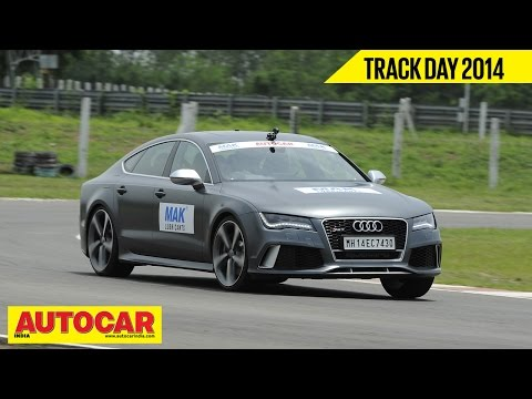 Autocar Trackday 2014 With Narain Karthikeyan | Audi RS7 | Autocar India