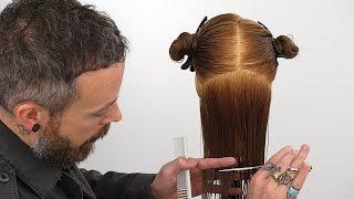 How to cut hair straight   Creating a precision bottom edge