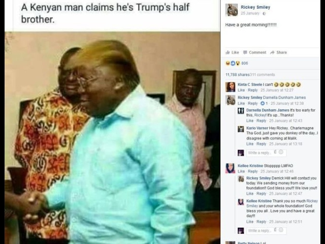 Donald Trump's Kenyan half-brother?