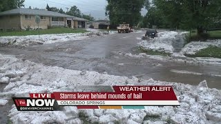 Storm floods parts of Colorado Springs; water rescues attempted amid hail, floods