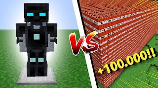 ARMADURA MAIS PODEROSA DO MINECRAFT VS + 100.000 TNTS!!