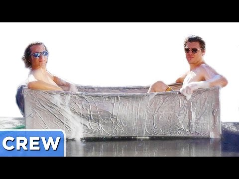 Making A Duct Tape Bathtub | Good Mythical Crew Ep. 36