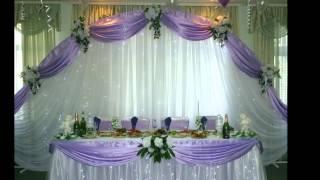 Как украсить свадебный зал своими руками самостоятельно