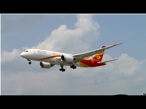 Hainan Airlines Boeing 787-800s Landing on Rwy 23 at Toronto Pearson(CYYZ)