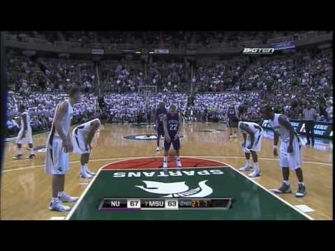 Northwestern Wildcats Basketball vs. Michigan State Spartans - 1/21/09 Video