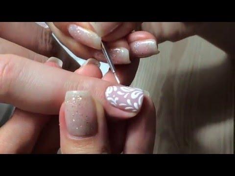 Как сделать дизайн ногтей с песком