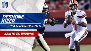 Every DeShone Kizer Pass Against New Orleans | Saints vs. Browns | Preseason Wk 1 Player Highlights