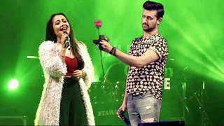Neha Kakkar Atif Aslam Dil Diyan Gallan ️ Omg Wow 1st Time ️ Last Night 2018