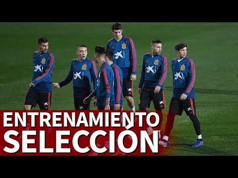 Entrenamiento en directo de la selección española en Las Rozas   Diario AS
