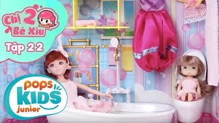 Đồ Chơi Búp Bê Barbie - Nhà Tắm Mộng Mơ - Chị 2 Bé Xíu Tập 22