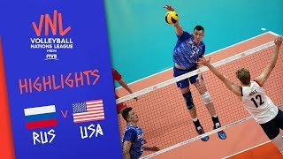 RUSSIA vs. USA -  Highlights Men | Week 2 | Volleyball Nations League 2019