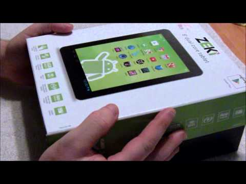 Zeki 8in Android Tablet Unboxing