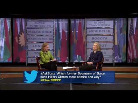 Secretary Clinton Holds Global Town Hall