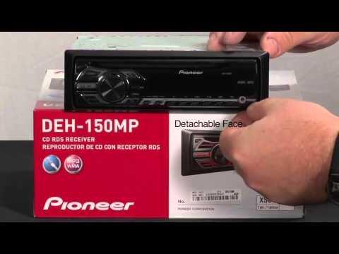 Estéreo para Carro Pioneer DEH-150MP con Reproductor MP3, Individual DIN