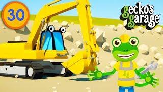 Excavators For Children | Gecko's Garage | Construction Trucks For Kids | Educational Videos