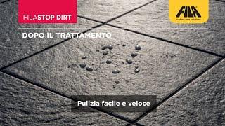 Pulire il gres strutturato e proteggerlo dallo sporco con FILASTOP DIRT (it)