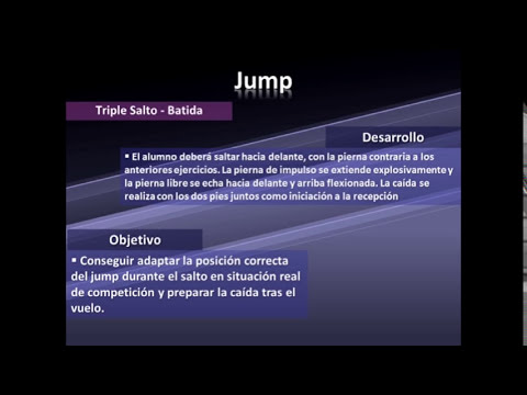 EJERCICIOS ASIMILACIÓN TRIPLE SALTO: FASE BATIDA
