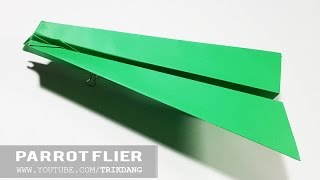 How to make a PAPER AIRPLANE that FLIES - Easy Origami paper planes for kids | Parrot