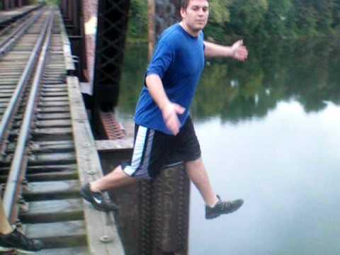 FAT KID DIES JUMPING OFF BRIDGE!!! (not literally) - YouTube